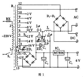 现以目前使用较多的集成电路结构的j1202型学生电源为例,介绍其工作