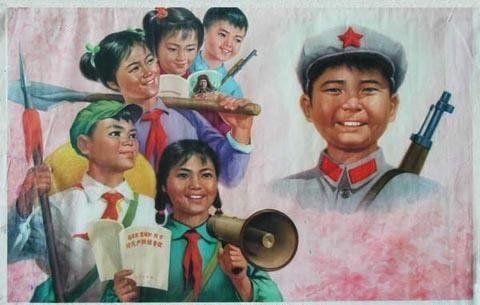80年代的教育宣传画