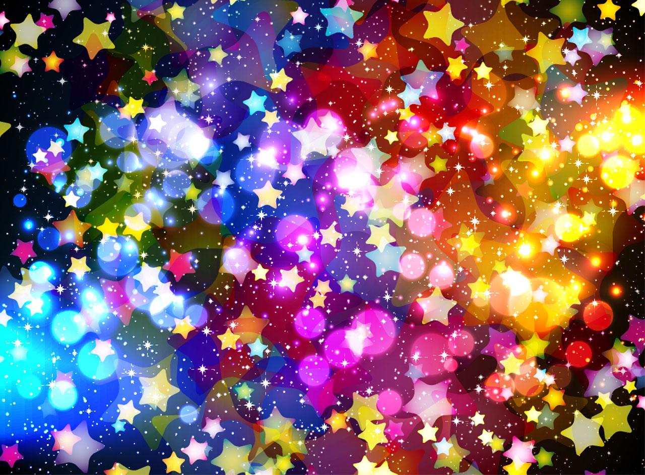 黑夜星星闪烁图