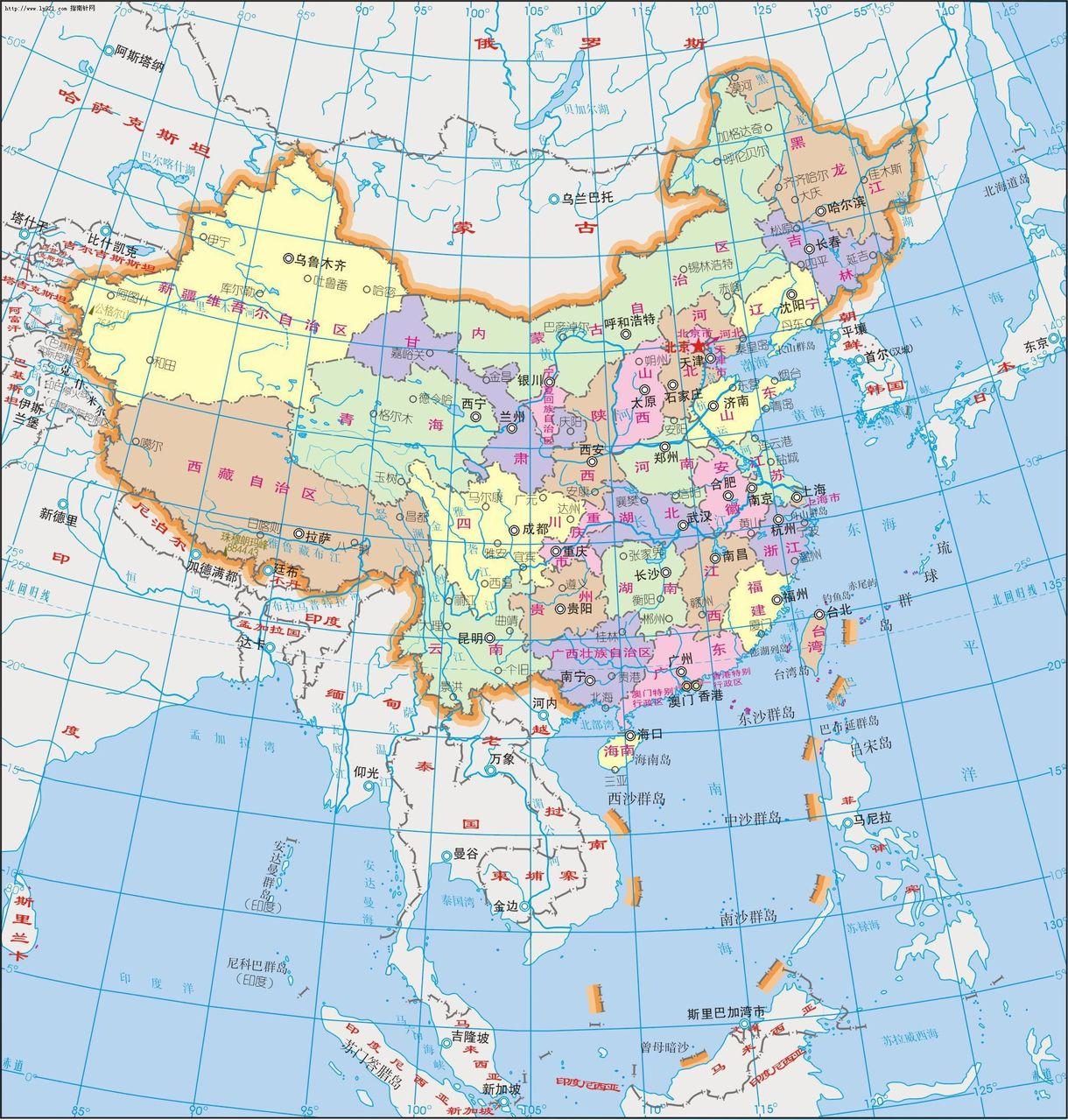 中国/中华人民共和国简称中国,位于亚洲东部、太平洋西岸,它的版图...