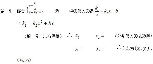 初中数学知识点——反比例函数:与一次函数图像的
