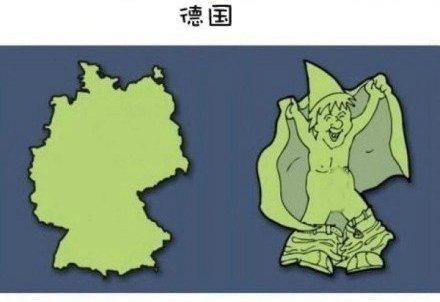 卡通欧洲地图