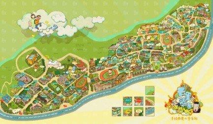 重庆现 最萌 手绘版校园地图