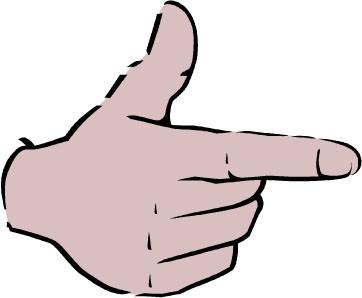 手指指向图片矢量图 无水印