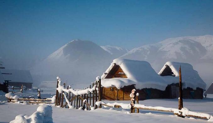 中国 阿勒泰/国内数十家旅游网和旅行社推出中国十大最美雪乡,新疆阿勒泰...
