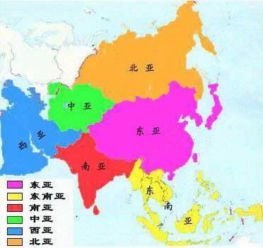 初中地理重点地图