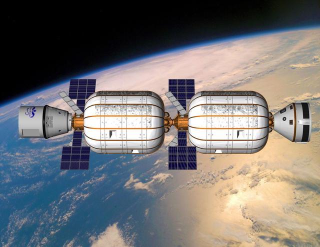 金属结构太空舱的大小