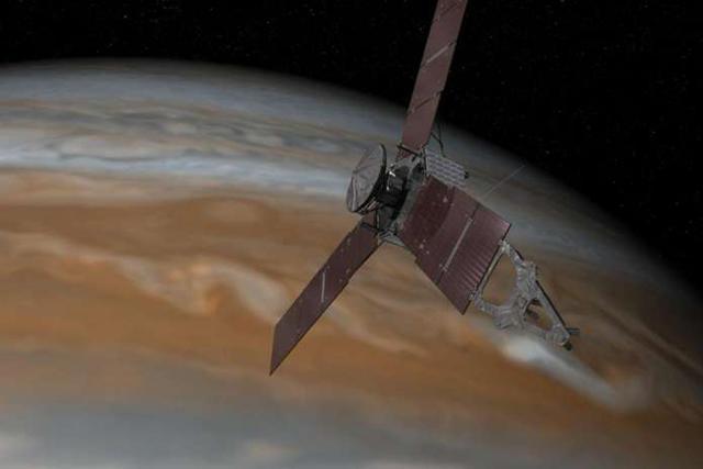 """美国""""朱诺""""号探测器穿越木星与太阳的引力边界"""