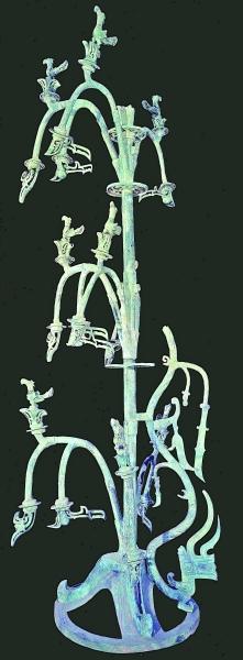 青铜神树,1986年三星堆二号祭祀坑出土