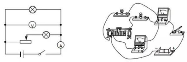 (4)滑动变阻器在电路图和实物图中的作用要相同.