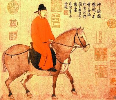 古代诗人马车简笔画
